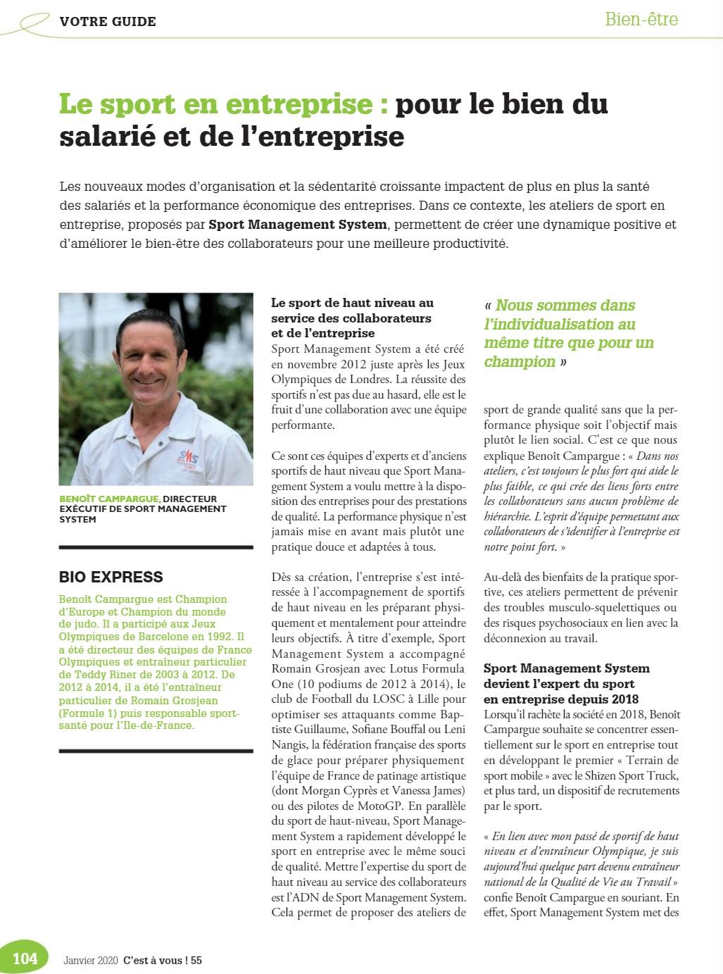 Article Sport-Management-System Medef Paris ile-de-france P1