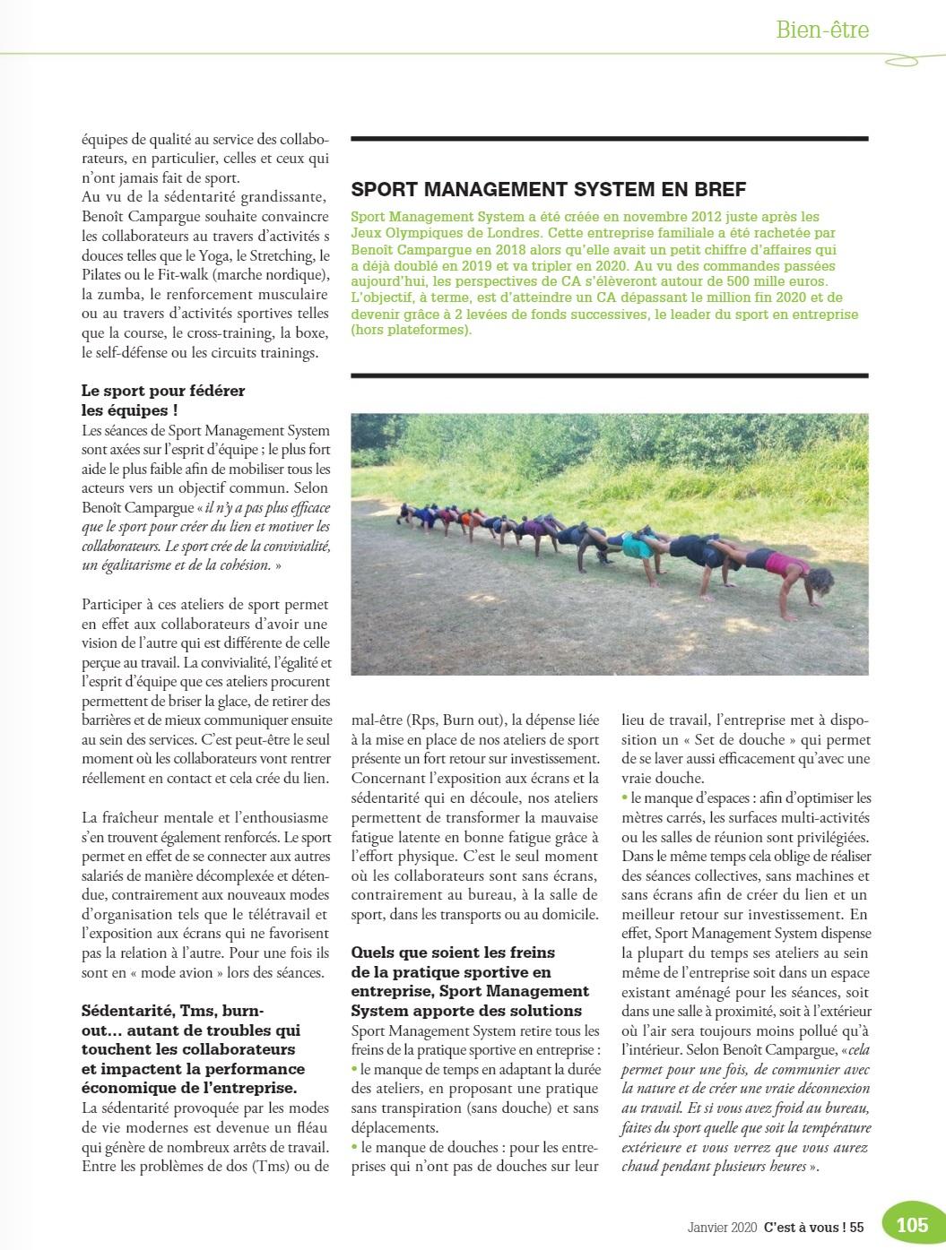 Article sur le Medef Paris ile-de-france sur le sport-en-entreprise avec Sport-Management-System