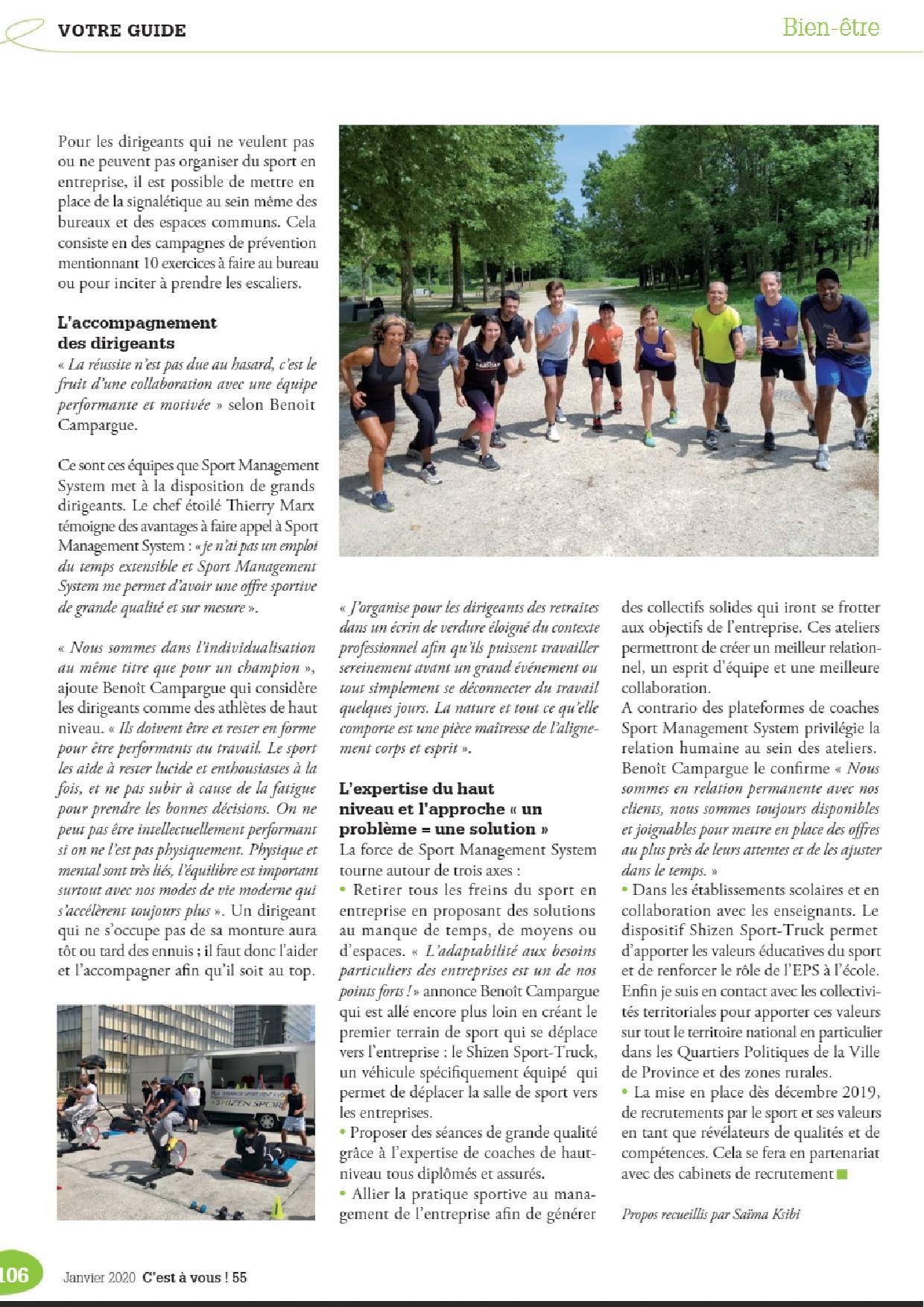 Le Medef publie un article sur Sport-management-System et le sport en entreprise