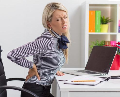 Ecrans et mal de dos réduite